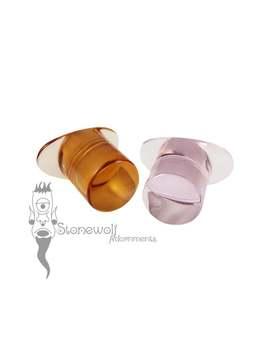 Transparentes Glas Runde Labret Mit T Back   Wahl Der Farbe Für Gestreckte Lippenpiercings Stein Stecker Auf Bestellung Gefertigt by Etsy