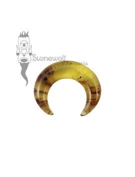 Chiapas Bernstein Septum Pincher Für Gestreckte Nase Piercings Stein Halbmond Ring   Auf Bestellung Gefertigt by Etsy