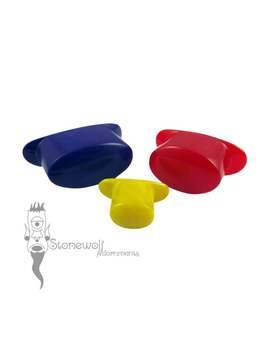 Opaque Glas Oval Labret Plug Mit T Back   Wahl Der Farbe Für Gestreckte Lippenpiercings Stein Auf Bestellung Gefertigt by Etsy