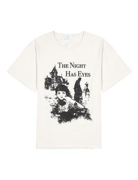 Night Has Eyes White Cotton T Shirt by Rhude