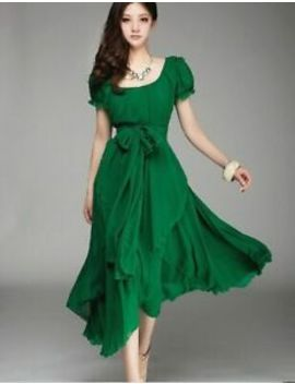 Plus Size Summer New Arrival Maxi Evening Long Dress Puff Sleeve by Ebay Seller