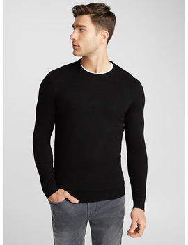Shiny Crew Neck Sweater by Le 31