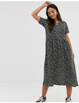 Wednesday's Girl   Robe Mi Longue à Imprimé Tacheté by Wednesday's Girl