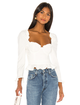 Corie Top In White by Majorelle