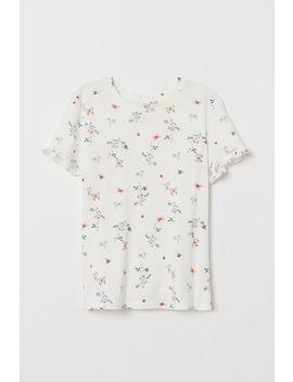 T Shirt Con Bordi A Volant by H&M
