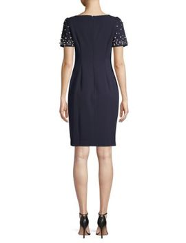 Embellished Sheath Dress by Karl Lagerfeld Paris