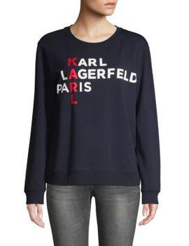 Logo Graphic Sweatshirt by Karl Lagerfeld Paris