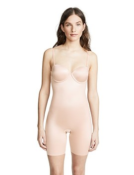 Suit Your Fancy Strapless Cupped Mid Thigh Bodysuit by Spanx