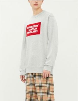 Logo Print Cotton Jersey Sweatshirt by Burberry