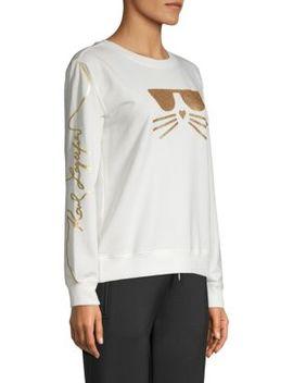 Choupette Embellished Sweatshirt by Karl Lagerfeld Paris
