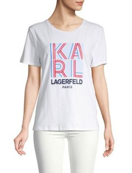 Graphic Roundneck Tee by Karl Lagerfeld Paris