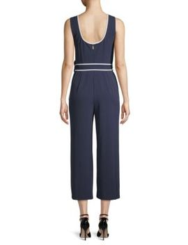 Sleeveless Cropped Jumpsuit by Karl Lagerfeld Paris