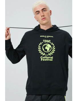 Cultural Festival Graphic Hoodie by Forever 21
