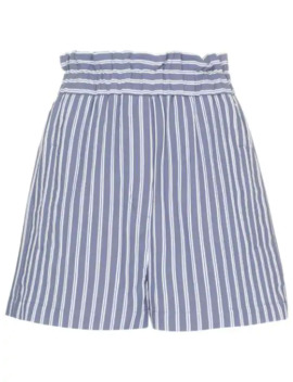High Waisted Striped Shorts by Tibi