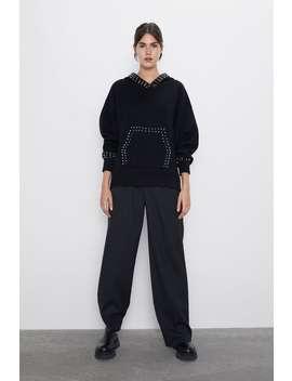 Tricot Sweatshirt Met Applicaties by Zara