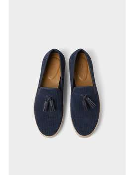 Jute Sole Leather Shoes by Zara