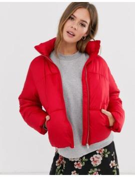 Plumífero Rojo Intenso De Corte Cuadrado De New Look by New Look