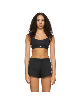 Black All Me 3 Stripes Sports Bra by Adidas Originals