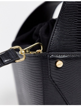 Topshop Tote Bag With Insert In Black by Topshop
