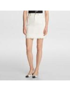 Tweed Skirt With Fringe by Karl Lagerfeld