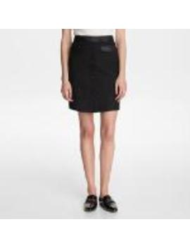 Button Up Tweed Skirt With Pockets by Karl Lagerfeld
