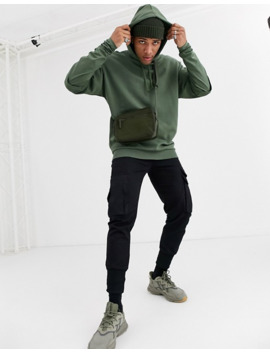 Asos Design Oversized Double Layer Hoodie With Muscle Fit Underlay by Asos Design