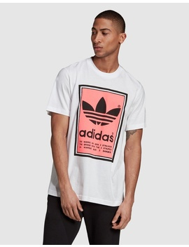Filled Label T Shirt by Adidas Originals