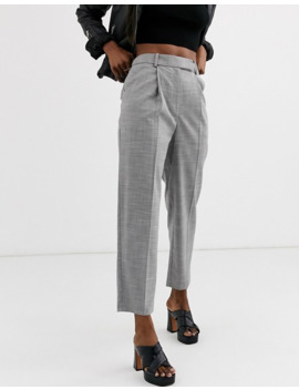 Topshop Straight Leg Trousers In Grey by Topshop