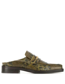 Square Toe Mule Loafers by Martine Rose