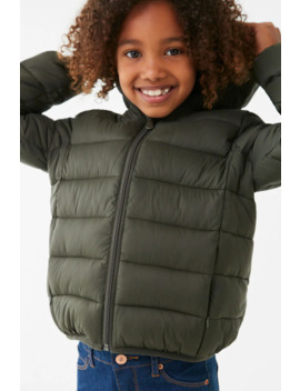 Girls Hooded Puffer Jacket (Kids) by Forever 21