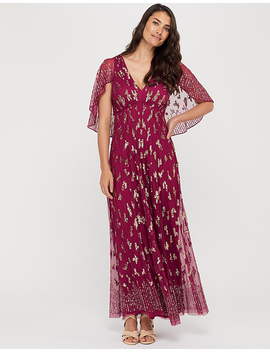 Keira Embellished Cape Maxi Dress by Monsoon
