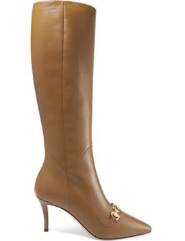 Zumi Leather Knee Boots by Gucci
