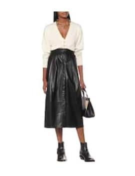 Leather A Line Midi Skirt by Zeynep Arçay