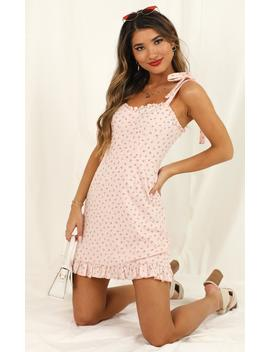 Easy On The Eyes Dress In Blush Floral by Showpo Fashion