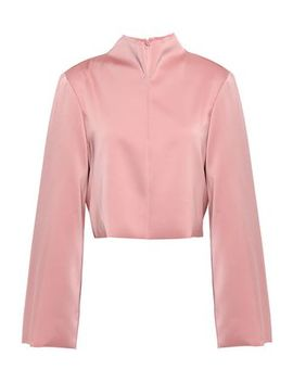 Cropped Satin Crepe Top by Tibi