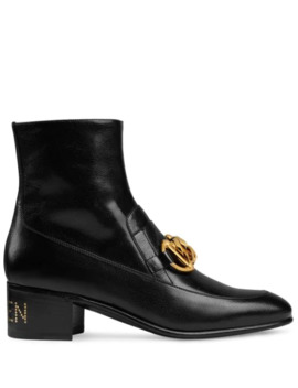 Horsebit Chain Loafer Boots by Gucci