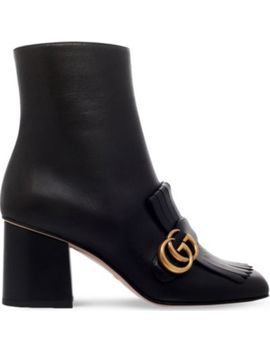 Marmont Leather Heeled Ankle Boots by Gucci