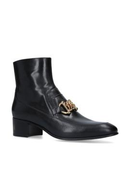 Chain Horsebit Ebal Boots 45 by Gucci