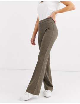 Jdy Check Flared Jersey Trousers by Jdy's