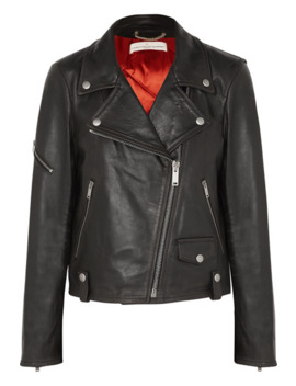 Chiodo Textured Leather Biker Jacket by Golden Goose