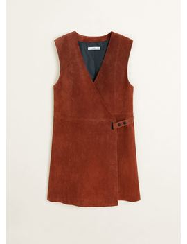 Leather Wrapped Dress by Mango