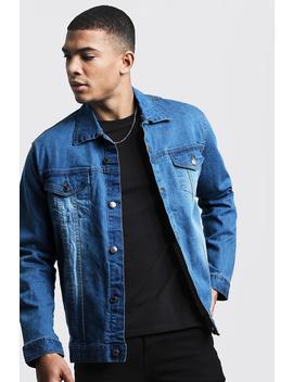 Regular Fit Denim Jacket by Boohoo