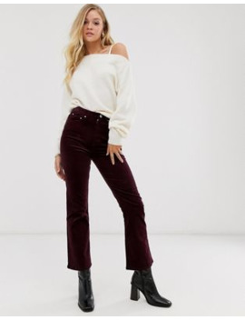 &Amp; Other Stories Straight Leg Cord Trousers In Burgundy by & Other Stories