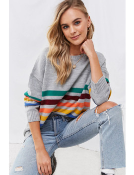 Oversized Striped Sweater by Forever 21