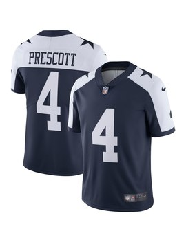 Men's Dallas Cowboys Dak Prescott Nike Navy Alternate Vapor Untouchable Limited Player Jersey by Nfl
