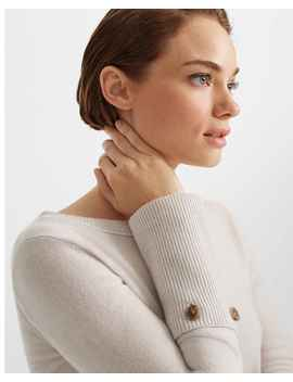 Cashmere Button Cuff Sweater by Club Monaco