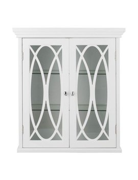 2 Doors Wall Cabinet In White by Elegant Home Fashions