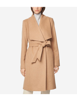 Melange Twill Wrap Coat by Cole Haan