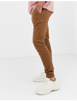 Asos Design Lightweight Skinny Joggers In Brown by Asos Design