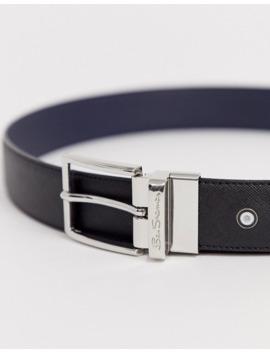 Ben Sherman Black And Navy Reversible Belt by Ben Sherman
